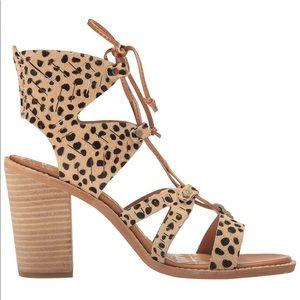 "Dolce Vita ""Luci"" Leopard Calf Hair Laceup Sandal"